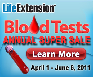 Life Extension 2011 Blood Test Sale